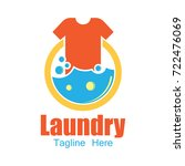laundry logo  emblems and... | Shutterstock .eps vector #722476069