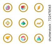 business chart icons set.... | Shutterstock .eps vector #722478565