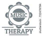 tambourine logo. simple... | Shutterstock .eps vector #722478784