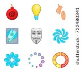 business process icons set.... | Shutterstock .eps vector #722480341