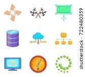 business technologies icons set.... | Shutterstock .eps vector #722480359