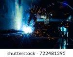 flux cored arc welding semi... | Shutterstock . vector #722481295