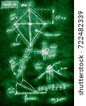 green handmade diagram of how... | Shutterstock . vector #722482339