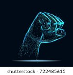 abstract image of a fist in the ... | Shutterstock .eps vector #722485615