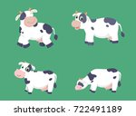 cute cow cartoon set | Shutterstock .eps vector #722491189