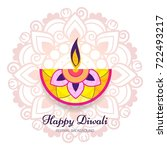 abstract colorful diwali... | Shutterstock .eps vector #722493217