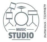 drum kit logo. simple...