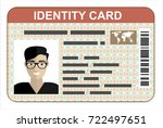 id card. flat design style. | Shutterstock .eps vector #722497651