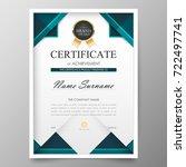 certificate premium template... | Shutterstock .eps vector #722497741