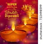 happy diwali light festival of... | Shutterstock .eps vector #722498599