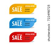 special offer sale banner for... | Shutterstock .eps vector #722498725