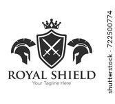 royal knight logo black | Shutterstock .eps vector #722500774