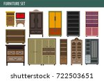 home furniture cabinet bookcase ... | Shutterstock .eps vector #722503651