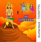 illustration of in dussehra... | Shutterstock .eps vector #722507791