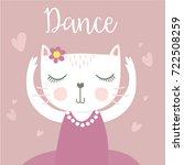 cute cat vector.t shirt print... | Shutterstock .eps vector #722508259