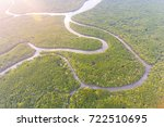 aerial view of mangrove forest... | Shutterstock . vector #722510695