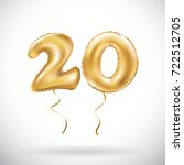 raster copy golden number 20... | Shutterstock . vector #722512705