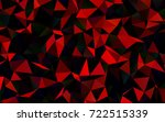 dark red vector low poly...