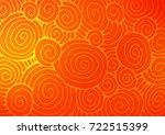 light orange vector doodle...