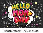 lettering hello monday message... | Shutterstock .eps vector #722516035