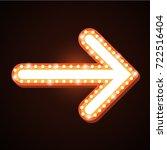 night club billboard retro... | Shutterstock .eps vector #722516404
