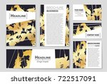 abstract vector layout... | Shutterstock .eps vector #722517091