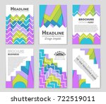 abstract vector layout... | Shutterstock .eps vector #722519011