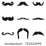 mustache icons freehand fill | Shutterstock .eps vector #722522995