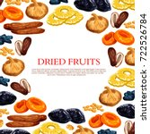dried fruits poster of sweet... | Shutterstock .eps vector #722526784