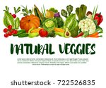 natural veggies poster of fresh ... | Shutterstock .eps vector #722526835