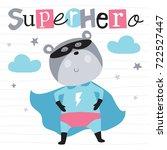 superhero teddy bear animal... | Shutterstock .eps vector #722527447
