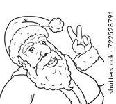 santa cross christmas cartoon | Shutterstock .eps vector #722528791