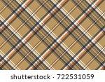 beige check plaid tartan pixel... | Shutterstock .eps vector #722531059