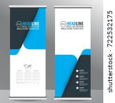 blue roll up business brochure... | Shutterstock .eps vector #722532175