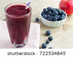 purple smoothie made with apple ... | Shutterstock . vector #722534845