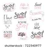 set of different typography... | Shutterstock .eps vector #722540977