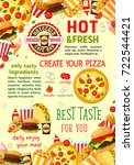 fast food poster template of... | Shutterstock .eps vector #722544421