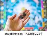 throws dice into a board game | Shutterstock . vector #722552239