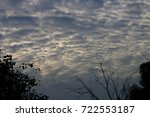 softer evening daylight sky... | Shutterstock . vector #722553187