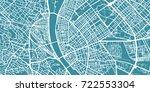 detailed vector map of budapest ... | Shutterstock .eps vector #722553304