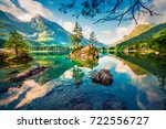 picturesque summer scene of... | Shutterstock . vector #722556727