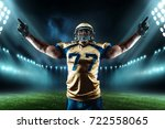 american football player  game... | Shutterstock . vector #722558065