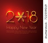 happy new year 2018 text design.... | Shutterstock .eps vector #722559019