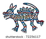 mexican coyote illustration ... | Shutterstock . vector #72256117