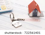 approved mortgage loan...   Shutterstock . vector #722561401