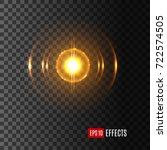 light lens flare effect with... | Shutterstock .eps vector #722574505