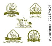 olives icons for olive oil... | Shutterstock .eps vector #722574607
