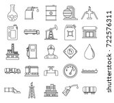oil gas industry outline icons... | Shutterstock .eps vector #722576311