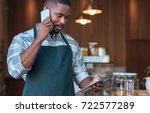 young african entrepreneur...   Shutterstock . vector #722577289