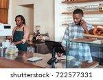 young african entrepreneur...   Shutterstock . vector #722577331